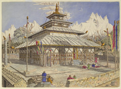 A 'Ghyong' or Buddhist Temple, named 'Changrassie', at Keerung, May 1855